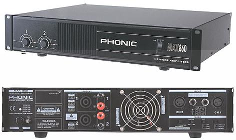 Amplificateur Phonic MAX860
