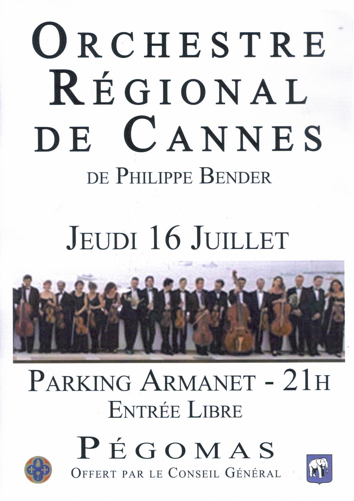 Affiche Concert Orchestre Régional de Cannes 2009